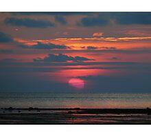 A Pink Sun Photographic Print