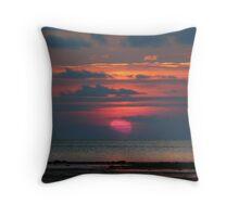 A Pink Sun Throw Pillow