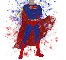 Superman Splatter Art by ProjectPixel