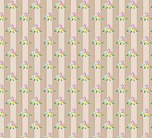Cute seamless pattern with flowers by fuzzyfox