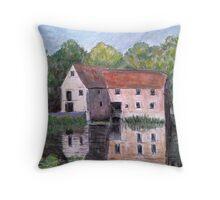 The Old Mill. Sturminster Newton Throw Pillow