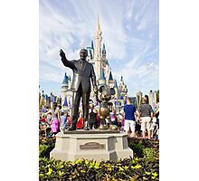 Walt and Mickey Photographic Print
