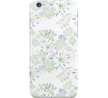 Seamless patterns with beautiful flowers iPhone Case/Skin