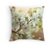 Cherry blossom tree retro Throw Pillow