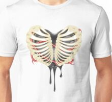 Black Heart in Thorax Unisex T-Shirt