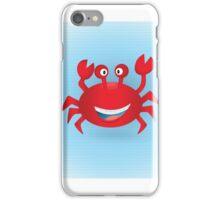 Cute hand drawn red crab. Tropical sea life design. iPhone Case/Skin