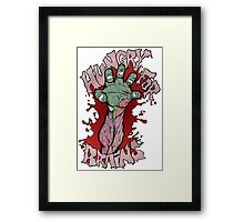 Hungry for Brains Framed Print