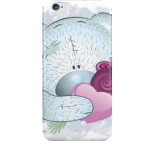 Blue teddy bear with heart 2 iPhone Case/Skin