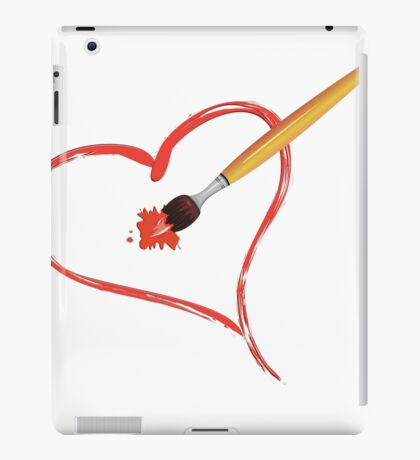 Brush painting a heart iPad Case/Skin