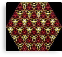 Modern - Clockwork Red and Gold Canvas Print