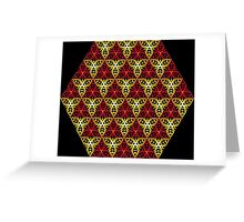 Modern - Clockwork Red and Gold Greeting Card