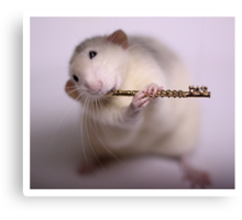 Playing the flute Canvas Print