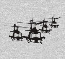 Huey Helicopter Team in Black v1 Kids Clothes