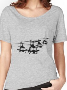 Huey Helicopter Team in Black v1 Women's Relaxed Fit T-Shirt