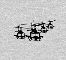 Huey Helicopter Team in Black v1 Unisex T-Shirt