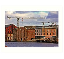 Buildings + Crane Art Print