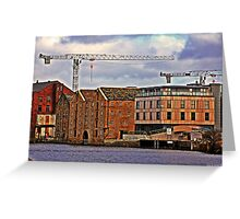 Buildings + Crane Greeting Card