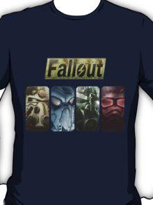 Fallout Helmets - 4 Simbols (ordered) T-Shirt
