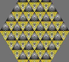 Modern - Triangles of Black and Yellow by BorisBurakov