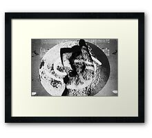 nude projection Framed Print