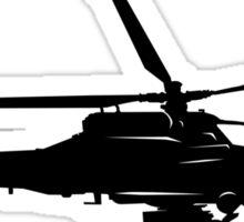 Large Detailed Apache AH-64 Helicopter Black v1 Sticker