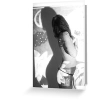 nude projection Greeting Card