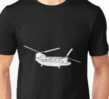 Large Detailed Boeing Chinook Helicopter White v1 Unisex T-Shirt