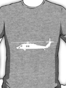 Blackhawk Helicopter Design in White v1 T-Shirt