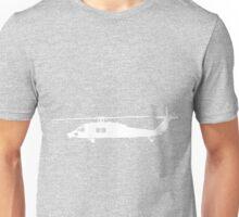 Blackhawk Helicopter Design in White v1 Unisex T-Shirt