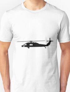 Blackhawk Helicopter Design in Black v1 Unisex T-Shirt