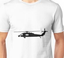 Blackhawk Helicopter Design in Black v1 Unisex T-Shirt
