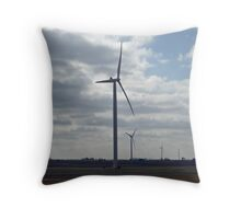 Wind Energy Throw Pillow