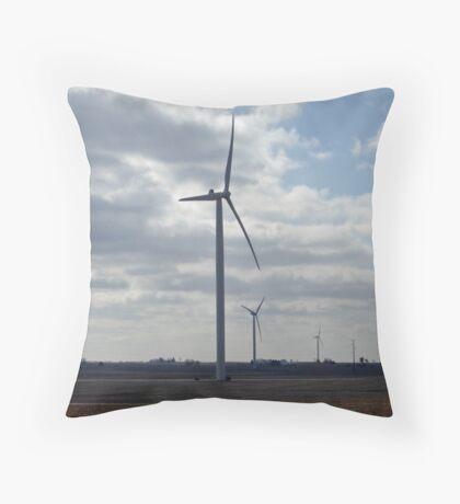 Wind Energy Throw Pillow