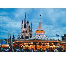 Carousel & Castle Photographic Print