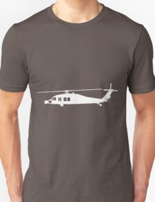 Blackhawk Helicopter Design in White v3 T-Shirt
