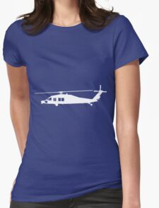 Blackhawk Helicopter Design in White v3 Womens Fitted T-Shirt