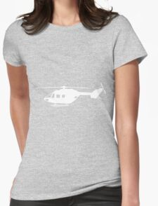 BK117 Helicopter Design in White Womens Fitted T-Shirt