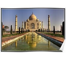 Dawn at the Taj Mahal Poster
