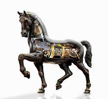 Leonardo da Vinci mechanized horse. by John Gieg