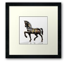 Leonardo da Vinci mechanized horse. Framed Print