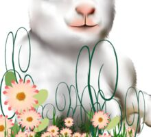 Happy Easter Little Lamb Sticker