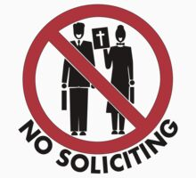 Snarky No Soliciting Color Design Sign by jnmvinylstudio