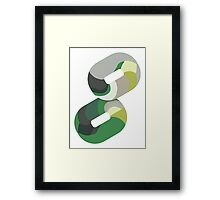 Green overlap Framed Print