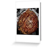 Manaia Wood Burning Greeting Card