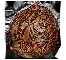 Manaia Wood Burning Poster
