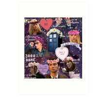 Sassy Tenth Doctor and Companions Art Print