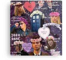 Sassy Tenth Doctor and Companions Metal Print