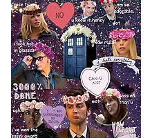 Sassy Tenth Doctor and Companions Photographic Print