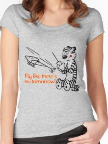 RC Helicopter Hobbes Design Women's Fitted Scoop T-Shirt