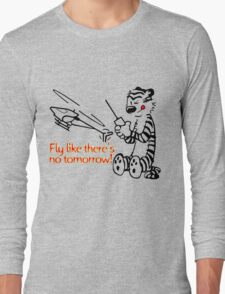 RC Helicopter Hobbes Design Long Sleeve T-Shirt